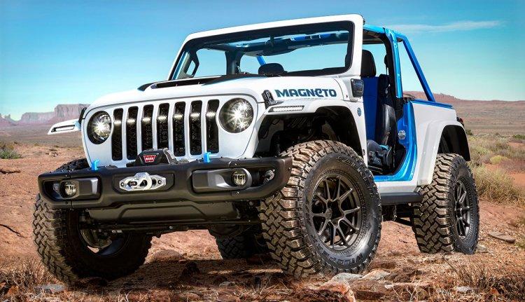 Der elektrische Jeep Wrangler Magneto beeindruckt