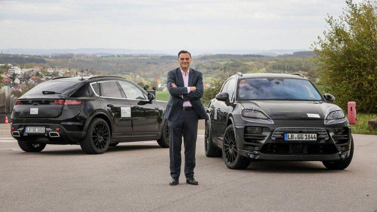 Der neue E-Macan von Porsche auf Testfahrt